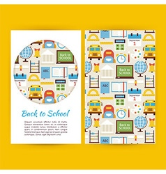 Back to School Business Banners Set Template vector