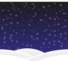 Background winter vector image