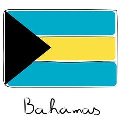 Bahamas flag doodle vector