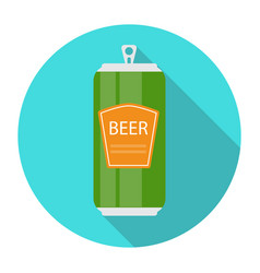 Beer bottle template in modern flat style icon on vector