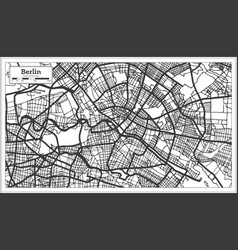 Berlin germany city map in black and white color vector