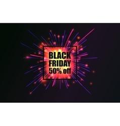 black friday fireworks discounts vector image