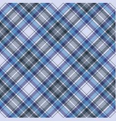 Blue tartan check plaid fabric seamless pattern vector