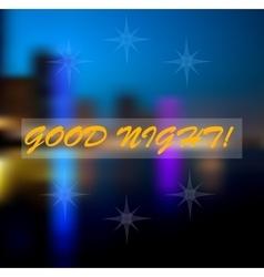 blur light good night vector image