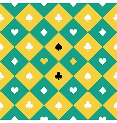 Card Suits Yellow Green Chess Board Diamond vector