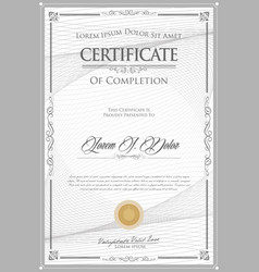 Certificate or diploma retro vintage design 4 vector