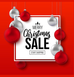 Christmas and new year holiday sale ad poster vector