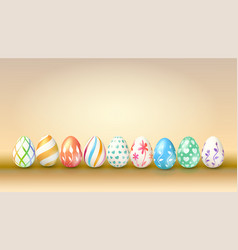 collection easter eggs decoration spring vector image