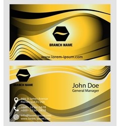 Collection of vertical business Card Template vector image