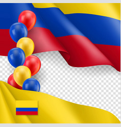 Colombian patriotic template with copy space vector