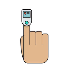 Colored pulse oximeter finger simple medicine vector