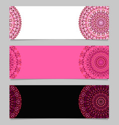 Colorful geometrical floral mandala banner vector