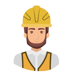 Colorful portrait half body of male bearded vector