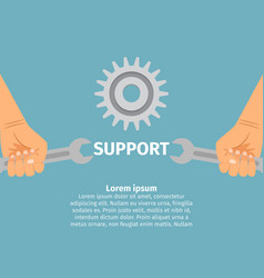 Concept technical support vector