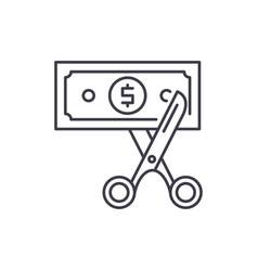 cost optimization line icon concept cost vector image