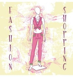 Decorative fashion mannequin for sale vector image