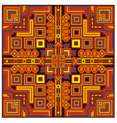 ethnic colorful abstract design decorative vector image
