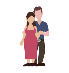 Faceless couple married vector