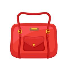 fashion women handbag with handle and pocket on vector image