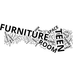 find cool teen furniture your teen will use and vector image