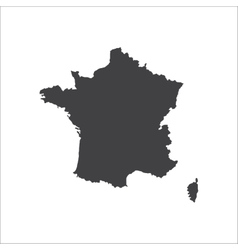 France map silhouette vector image