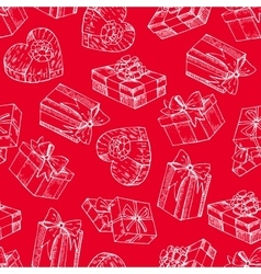 Gift box seamless gift box pattern vector image