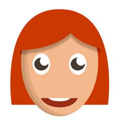 girl cute face icon cartoon style vector image
