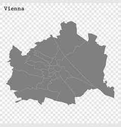 High quality map is a state austria vector