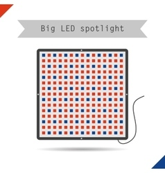 Icon big LED spotlight for plants vector image