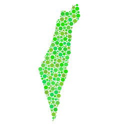 israel map collage of dots vector image