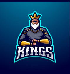 king logo design with modern vector image