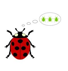 Ladybird diet vector