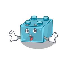 Lego brick toys mascot design concept with a vector