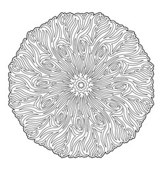 line art for coloring book with isolated mandala vector image