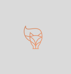linear fox logo design animal wildlife vector image