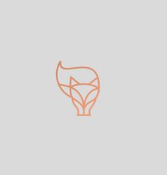 Linear fox logo design animal wildlife vector