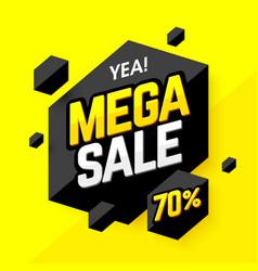 Mega sale banner poster background vector