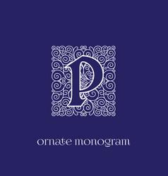 Monogram p vector