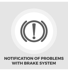 Notification of problems with the brake system vector
