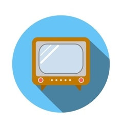 Old TV icon flat style vector image