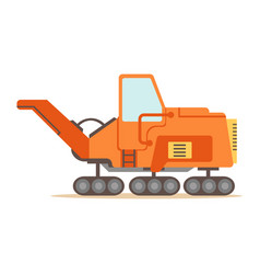 orange gravel spreading graver machine part of vector image