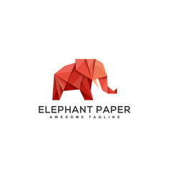 origami elephant design concept template vector image