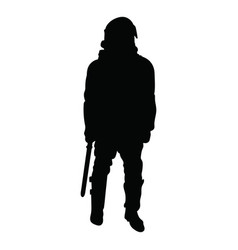outline a policeman wearing a helmet with a vector image