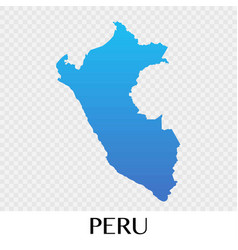 Peru map in south america continent design vector