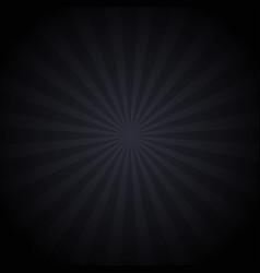 retro black-grey background sunrays vector image