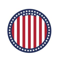 round flag united states america vector image