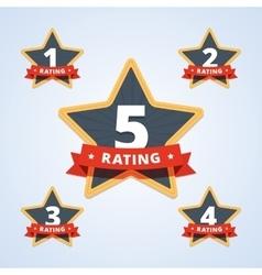 set a rating stamp badge vector image