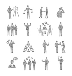 Sketch Business People vector