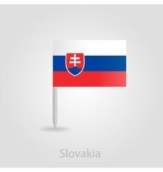 Slovakia flag pin map icon vector