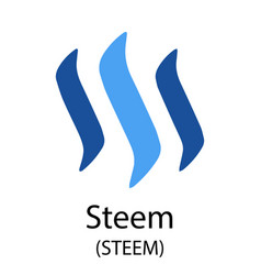 steem cryptocurrency symbol vector image